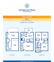 Athens floor plan at Centennial Place in Atlanta, Georgia