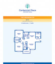Brunswick floor plan at Centennial Place in Atlanta, Georgia