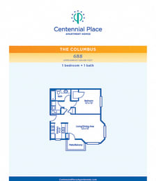 Columbus floor plan at Centennial Place in Atlanta, Georgia