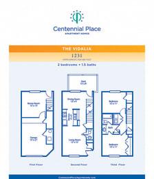 Vidalia floor plan at Centennial Place in Atlanta, Georgia