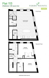 Flat 113 Floorplan at Verde Pointe