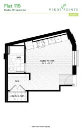 Flat 115 Floorplan at Verde Pointe