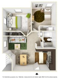 Sierra Falls Floor Plan at The Falls Apartments in Raleigh NC