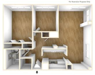 Two Bedroom Apartment Floor Plan Dorado Apartments