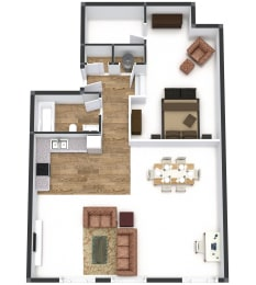 One Bedroom on 7th Deluxe