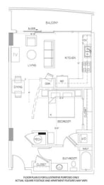 Floor Plan  A1 Floorplan at Glass House by Windsor