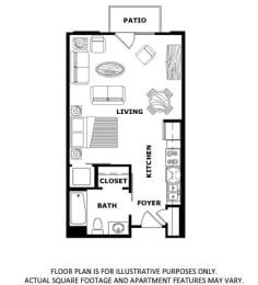 Floor Plan  Floorplan at Terraces at Paseo Colorado, Pasadena, CA, 91101