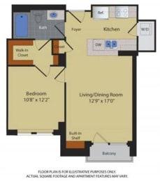 Floor Plan  Floorplan at Halstead Tower by Windsor, 4380 King Street, VA 22302