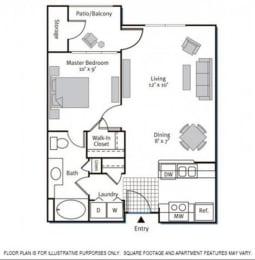 Floor Plan  Floorplan at Pavona Apartments, 760 N. 7th Street, San Jose, CA, 95112
