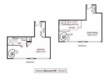 Floor Plan  MacLaren Hill Apartments in St. Paul, MN Studio Apartment