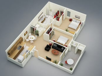 Summer Floor Plan at The Seasons Apartments, San Ramon, CA