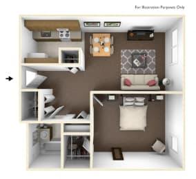 One Bedroom Floor Plan Bridgeport Elderly Apartments