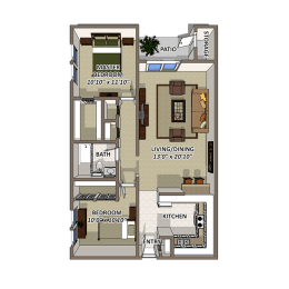 The Pointe Floor Plan at Lakecrest, Greenville