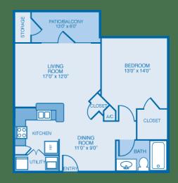 Avalon Floor Plan at Ethan Pointe Apartments, Burlington, North Carolina