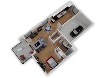 Capitol Yard Apartments_ West Sacramento CA_Floor Plan_Studio 2