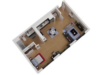 Capitol Yard_ West Sacramento CA_Floor Plan_Studio 3