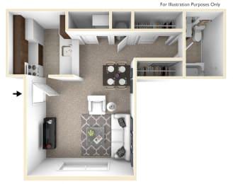 Studio/Torenia Floor Plan at Brook Pines, South Carolina, 29210