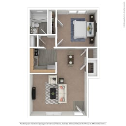 Chambre Floor Plan at The Courtyards of Chanticleer, Virginia Beach