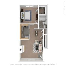 Villes Floor Plan at The Courtyards of Chanticleer, Virginia