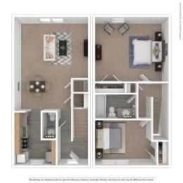 Alsace Floor Plan at The Courtyards of Chanticleer, Virginia, 23451