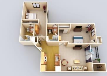 Dominique 2Bed2Bath Floor Plan at 55+ FountainGlen Grand Isle, Murrieta
