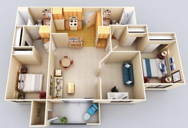 Hilo 2Bed2Bath Floor Plan at 55+ FountainGlen Grand Isle, Murrieta, 92562