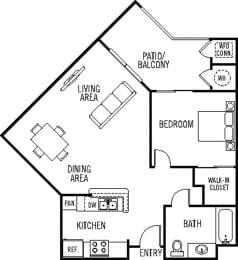 Rancho Floor Plan at 55+ FountainGlen Valencia, Valencia, CA