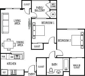 Coronado Floor Plan at 55+ FountainGlen Valencia, Valencia, California
