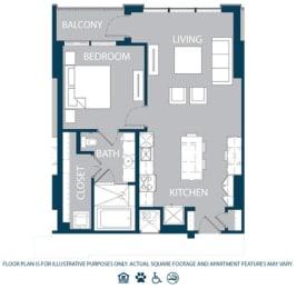 Floor Plan  Floorplan at The Jordan, Dallas, TX 75201