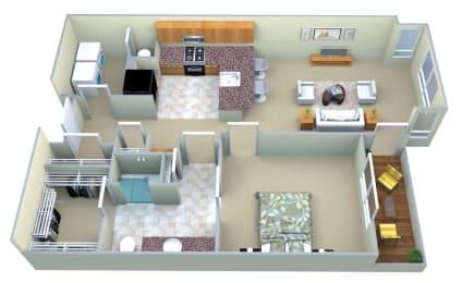 Floor Plan A1 1 Bed/1 Bath