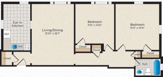 Floor Plan B05 - South