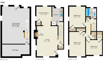 Floor Plan T04 Townhouse - South