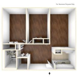 Two Bedroom Apartment Floor Plan Blake Estates Apartments