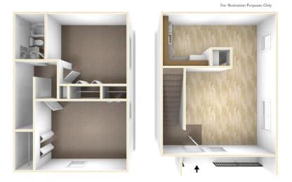 Two Bedroom Apartment Floor Plan Blue Ridge Estates
