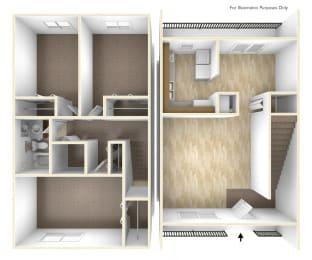 Three Bedroom Apartment Floor Plan Blue Ridge Estates