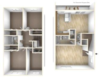 Four Bedroom Apartment Floor Plan Blue Ridge Estates