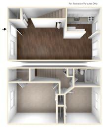 Two Bedroom Apartment Floor Plan Colonial Estates Apartments
