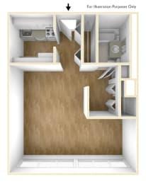 One Bedroom Floor Plan Exchange Place Tower Apartments