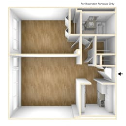 Two Bedroom Apartment Floor Plan Exchange Place Towers Apartments