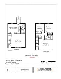 Floor Plan 3 bedroom - 1 bathroom