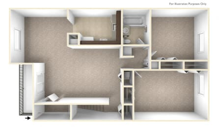 Two Bedroom Apartment Floor Plan Williamsburg Estates Apartments