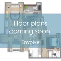 Floor Plan 2 BR, 2 BTH