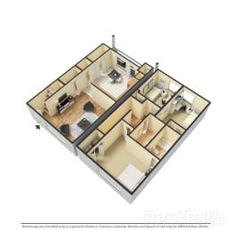 Floor Plan 3 BR, 2.5 BTH Townhome