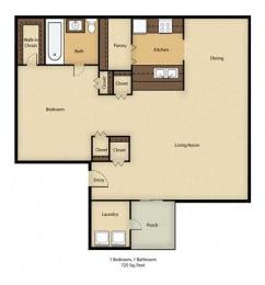 Crestwood Apartments Floor Plan in St. Cloud, FL