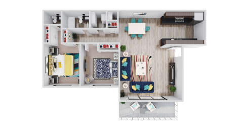 98Hundred Apartments The Oak Floor Plan