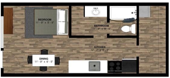 The Lodge Studio Floor Plan