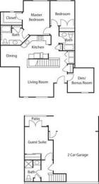 Townhouse with Den II- 55+ Adult Living Floorplan at Reunion at Redmond Ridge, 11315 Trilogy Pkwy NE
