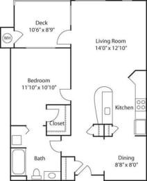 B1- 55+ Adult Living Floorplan at Reunion at Redmond Ridge, Washington, 98053