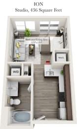 Ion  Floor Plan of the Venture Apartments iN Tech Center in Newport News VA