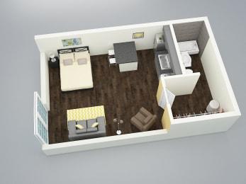 Avenue 965 studio floor plan